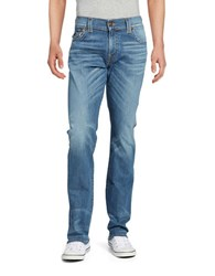 True Religion Ricky Relaxed Straight Leg Jeans Blue
