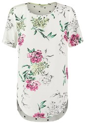 Joules Tom Joule May Print Tshirt Cream Off White
