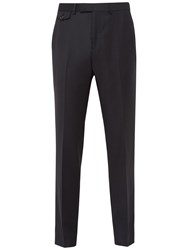 Ted Baker Rivlint Jacquard Wool Tailored Fit Suit Trousers Black