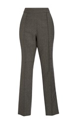 Rosie Assoulin Oboe Jacquard Pants Dark Grey