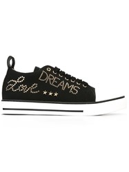 Red Valentino Studded Lace Up Sneakers Black