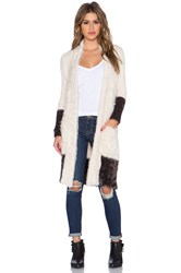 Chaser Shawl Collar Long Cardigan Cream