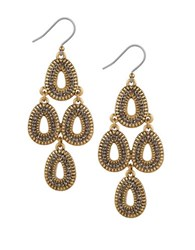 Lucky Brand Tribal Chandelier Earrings Mixed Metal