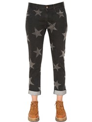 Stella Mccartney Skinny Boyfriend Star Print Denim Jeans