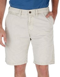 Lucky Brand Twill Cotton Shorts Silver