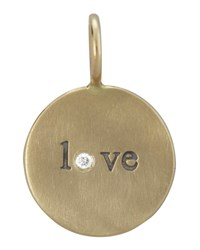 14K Yellow Gold Love Charm With Diamond Heather Moore
