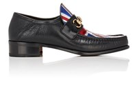 Gucci Men's Vegas Leather Loafers Black Blue Red Silver Black Blue Red Silver