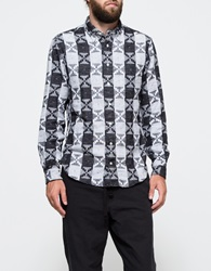 Archive Geometric Flannel Grey