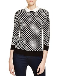 Finity Diamond Pattern Layered Look Sweater Black