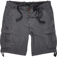 River Island Mens Dark Grey Cargo Knee Length Shorts
