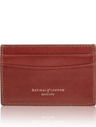 Aspinal Of London Slim Credit Card Case Cognac