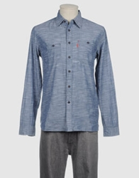 Element Long Sleeve Shirts Slate Blue