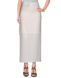 Lo Not Equal Skirts Long Skirts Women White