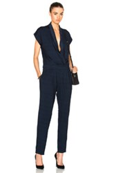 Ag Adriano Goldschmied Tetra Jumpsuit In Blue