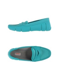 Swims Moccasins Turquoise