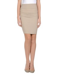 Niu' Skirts Knee Length Skirts Women Sand