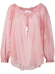 Zimmermann Striped Blouse Red
