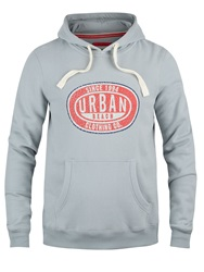 Urban Beach Sinclaire Graphic Crew Neck Pull Over Hoodie Grey