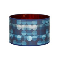 Claire Gaudion Mockbee And Co Marble Two Lampshade Indigo