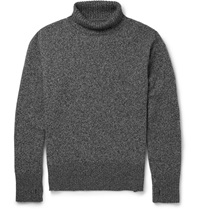 Oliver Spencer Merino Wool Rollneck Sweater Gray