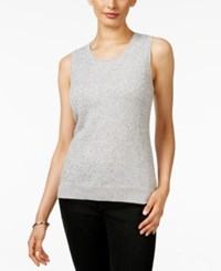 Charter Club Cashmere Sequined Shell Only At Macy's Heather Crystal