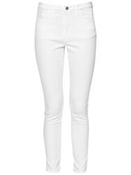 French Connection High Rise Slim Cropped Jeans Summer White