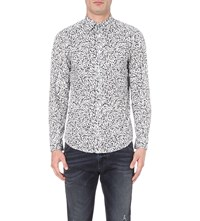 Diesel S Blu Regular Fit Cotton Shirt Vapourous Gray