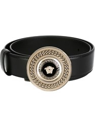 Versace Medusa Chain Belt Black