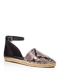 Kenneth Cole Blair Snake Embossed Espadrille Flats Compare At 110 Black White