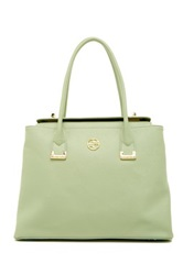 Segolene En Cuir Abella Leather Handbag Green