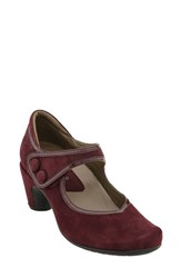 Earthiesr Women's Earthies 'Lucca' Mary Jane Pump Burgundy Suede