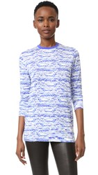 Prabal Gurung Long Sleeve T Shirt Cobalt Stripe