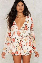 Cover Ground Floral Romper Ivory