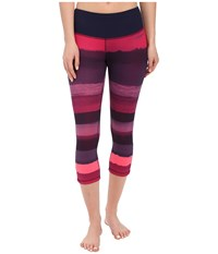Brooks Greenlight Capris Se Navy Scape Light Bloom Women's Capri Pink