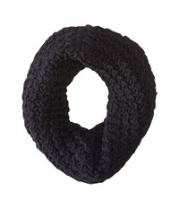 Hat Attack Chevron Knit Long Loop Navy Scarves