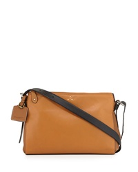 Kelsi Dagger Wythe Leather Crossbody Bag Cognac