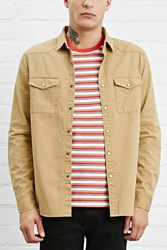 Forever 21 Fitted Canvas Shirt