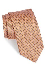 Men's John W. Nordstrom 'Raine Mini' Geo Print Silk Tie Orange
