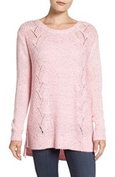 Nydj Women's Sequin Knit Tunic Pink Cameo