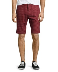 Sovereign Code Alton Polka Dot Shorts Red