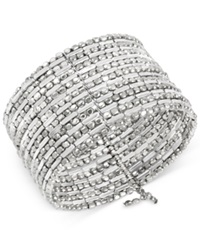 Kenneth Cole New York Silver Tone Seed Bead Coil Bracelet