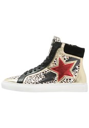 Just Cavalli Hightop Trainers Natural Variant Gold