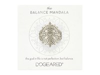 Dogeared Balance Mandala Center Circle Ring Sterling Silver Ring