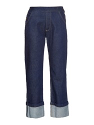 See By Chloe Side Button High Rise Straight Leg Jeans