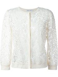 Alberta Ferretti Guipure Lace Cardigan Nude And Neutrals