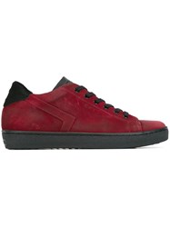 Leather Crown 'Lc09' Sneakers Red