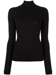 Carven Rib Knit Jumper Black