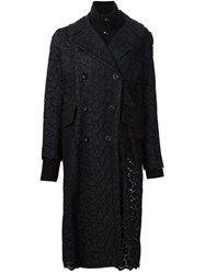 Sacai Guipure Lace Coat Black