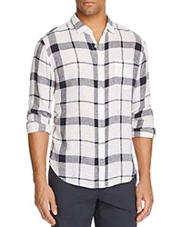 Rails Connor Blue Regular Fit Plaid Button Down Shirt White Navy