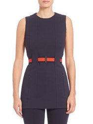Akris Punto Sleeveless Belted Tunic Navy